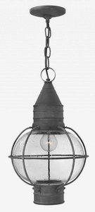Hinkley 2202DZ Nautical One Light Hanging Lantern from Cape Cod collection in Bronze/Darkfinish,