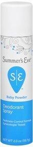 Summer's Eve Baby Powder Freshening Spray 2.0 oz (Pack of 5)