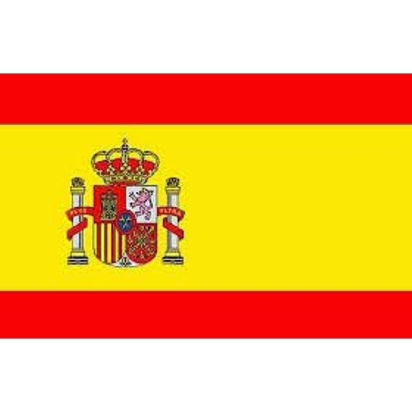 Bandera España, español, 150 x 90 cm, tejido 100% poliéster.: Amazon.es: Jardín