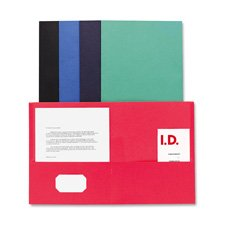 Double Pocket Portfolio, 125 Sheet Cap., 25/BX, Light Blue, Sold as 1 Box, 25 Each per Box (Cap Sheet 125)