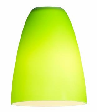 Access Lighting 23122-LGR Inari Silk Flute Pendant Glass Shade, Light Green Glass Finish