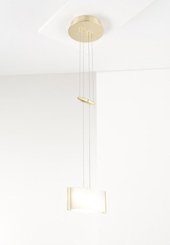 Holtkoetter 5701 PBBB GB50 Halogen Low-Voltage Pendant, Polished Brass/Brushed Brass with B-50 Glass (Glass Glass B50)