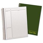 TOP20816 - Gold Fibre Wirebound Writing Pad w/Cover