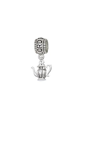Silvertone Tea Pot - Lord Guide Me Charm Bead