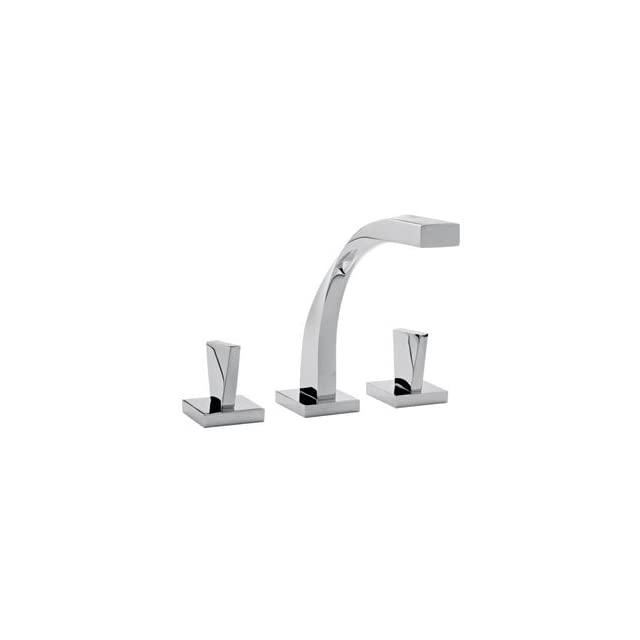 Altmans SR10PC Spira Polished Chrome Complete Widespread Bathroom Faucet with Mushroom Style Drain