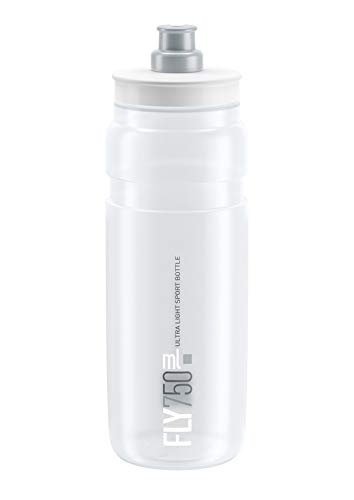 Elite Fly Logo Water Bottle, Clear Grey,750ml - Logo Water Bottle