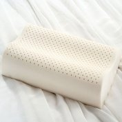 "100% Natural Latex CONTOUR Pillow-FIRM- QUEEN SIZE ( 25"" X 17"" X 4"")"