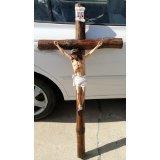 Huge 4 Foot Tall Pottery CRUCIFIX SAVIOR JESUS CHRIST CHAPEL CHURCH CROSS