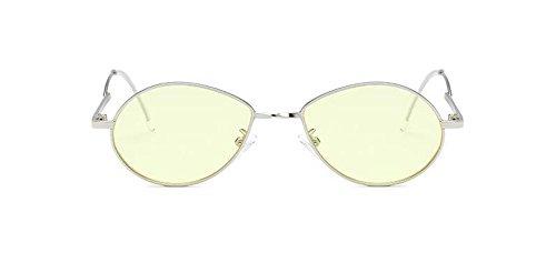 soleil rond polarisées Lennon Jaune retro inspirées de style Film cercle du métallique en lunettes vintage wqWSB54WF