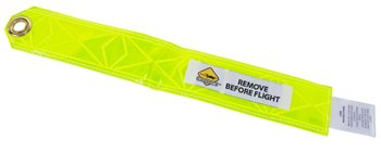 Remove Before Flight Streamer/2.25'' L X 2'' W/8'' L Two Metal Rings Included by EDMO DISTRIBUTORS, INC