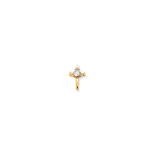 (14k Claddagh Cross Pendant Mounting - Base Only, No Stones)