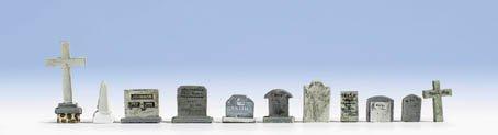 Noch 14873 Tombstones 11/ HO Scale Model Scenery