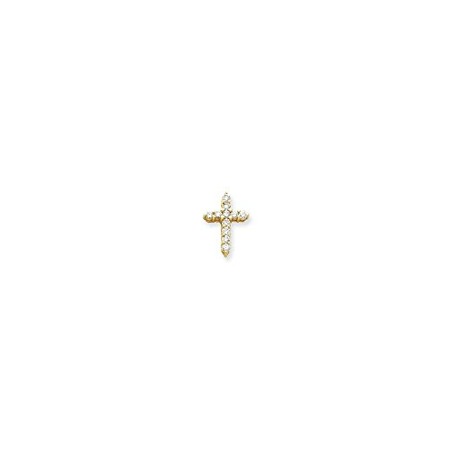Diamond Cross Mounting - 14k Diamond Cross Mounting - Base Only, No Stones