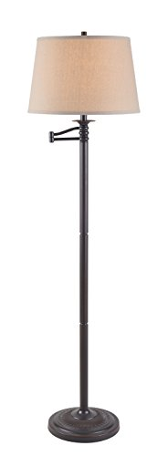 Kenroy Home 32215CBZ Riverside Swing Arm Floor Lamp, 16'' x 16'' x 58'', Copper Bronze Finish by Kenroy Home