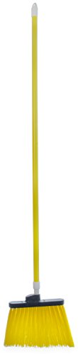 Carlisle 4108304 Sparta Duo-Sweep Unflagged Angle Broom with Fiberglass Handle, 54'' Length, Yellow (Pack of 12) by Carlisle