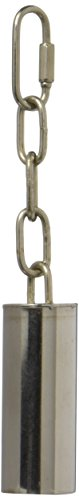 Caitec Paradise 1.25-Inch by 3-Inch Stainless Steel Pet Toy Bell, Medium