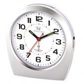 Radio Controlled Silent Night Alarm Clock Analogue Snooze Luminous Hands Bedside