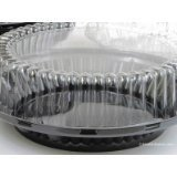 9 Inch High Dome Plastic Disposable/Reusable Pie Carrier #WJ43 (80)