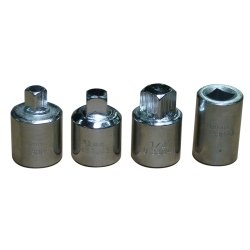 Set Hex Soc - Soc Set Drain Plug 4Pc 1/2Dr
