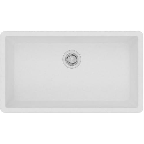 Quartz Classic ELGRU13322WH0 White Single Bowl Undermount Sink