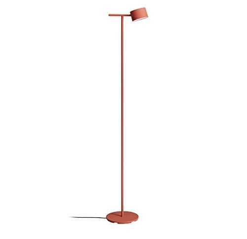 (YWLDD Floor Lamps Floor lamp Modern Minimalist LED Eye Protection Creative Living Room Bedroom Study Vertical Floor lamp (Color : Orange))