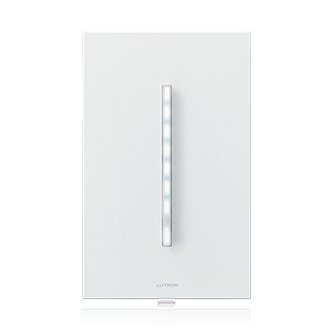 Lutron GTJ-5ANSM-WH Grafik-T Clear Connect RF Technology Multi-Location Switch for LED/Incandescent/Halogen Lighting