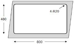 Modelo Basic ALBA/ÑO Fregadero 2 senos cuadrado 82x50x18cm
