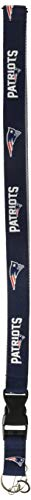 Pro Specialties Group NFL New England Patriots Two-Tone Lanyard, Navy/Silver, One Size (Holder Ticket Patriots)