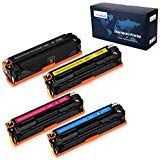 (OfficeWorld Compatible Toner Cartridge Replacement for HP 125A CB540A for HP Color Laserjet CP1215 CM1312NFI MFP CM1312 MFP CP1515n CP1518NI (1 Black, 1 Cyan, 1 Magenta, 1 Yellow), 4 Pack)