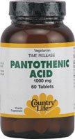 Acide pantothénique Country Life - 1000 mg - 60 comprimés