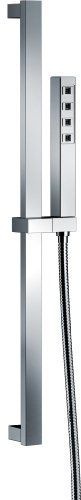 (Delta Faucet Single-Spray H2Okinetic Slide Bar Hand Held Shower with Hose, Chrome 51567)