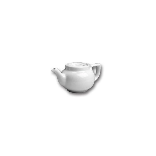 Hall China 100AWHA White 8 Oz Boston Teapot with Sunken Cover- 12 / CS by Hall China