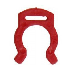 "John Guest Acetal Copolymer Tube Fitting Locking Clip for 1/4"" Tube OD (PIC1808R) (Pack of 10)"