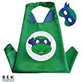 Bek Brands TMNT Ninja Turtles Leonardo Superhero Cape and Mask Set | Dress up Satin Cape and Felt Mask ()