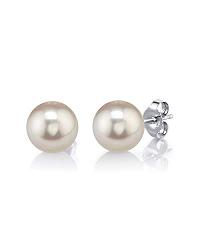 Akoya Pearl 14k Stud Earrings - THE PEARL SOURCE 14K Gold 7-8mm
