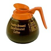 Bloomfield DCF8901O24 Glass Decanter, Decaf, Orange Handle (Pack of 24)