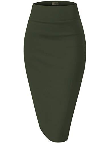 Womens Premium Stretch Office Pencil Skirt KSK45002X 1073T Hunter 3X