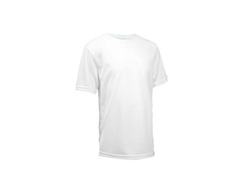 L2b Youth Athletic-Shirts, Crewneck, Short Sleeve, Quick Dry, No Fade, L White