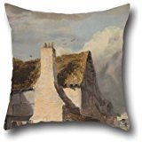 [Cushion Covers 20 X 20 Inches / 50 By 50 Cm(twin Sides) Nice Choice For Dining Room,birthday,festival,office,chair,bf Oil Painting Sir Augustus Wall Callcott - Cottage By A Country] (Bike Lane Costume)
