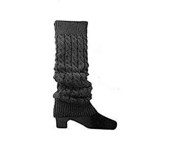 Warmers Ankle Cuffs Ishua Grey Socks Dark Knitted Boot Women Warmers Soft Stretch Leg UFwxEqFz