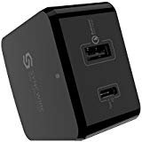 USB C PD Wall Charger - Syncwire 30W Type C Power Delivery & 18W Quick Charge 3.0 Fast Charger with US EU UK Adapter for...