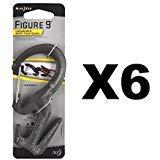 (Nite Ize Figure 9 Carabiner Large Rope Tightener Aluminum Tie w/Biner (6-Pack))