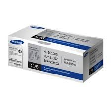 Samsung Genuine Brand Name, OEM MLTD119S (MLT-D119S) Black Toner Cartridge (2K YLD) (AKA ML1610D2/ ML2010D3/ SCX4521D3) for ML-1610, ML-1610R, ML-1615, ML-1620, ML-1625, ML-1625R, ML-2010, ML-2510, ML-2570, ML-2571N, SCX-4321, SCX-4521F Printers