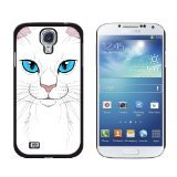 Graphics and More White Cat Face Pet Kitty Snap-On Hard P...