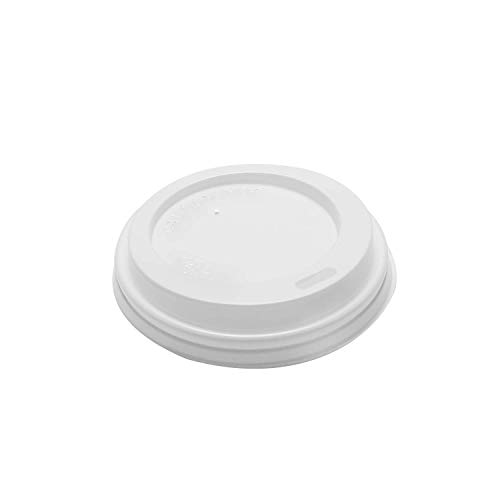 Karat C-KDL508 Sipper Dome Lid for Hot Cups (Fits 8 oz Capacity), White (Case of 1000) ()