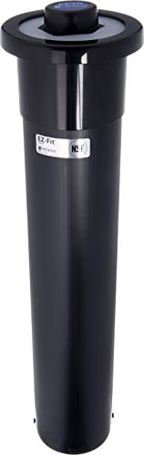 (San Jamar C2210C Euro EZ Fit In Counter Cup Dispenser, Fits 6oz to 24oz Cup Size, 18