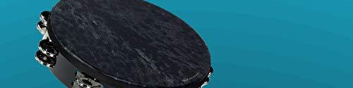 Remo Black Tambourine - Remo Wild Tambourine - Skyndeep Black, 10