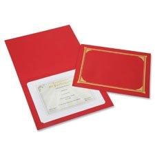 NSN6272960 - SKILCRAFT Linen Gold Foil Certificate Holder