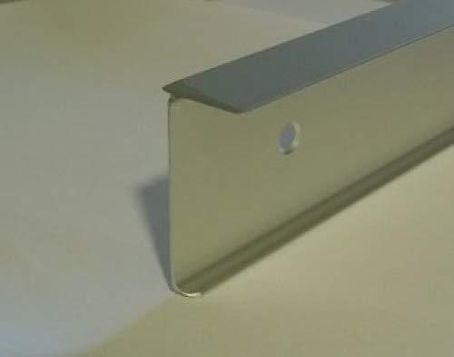 FMK kitchen worktop corner square joint q3 profile, 40mm high, satin 3mm radius fitmykitchen