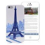 Eiffelturm Prächtige Gebäude Kunststoff Schutzhülle für Apple iPhone SE 55S–Hellblau